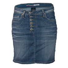 Please Jeans Blu Denim Nederdel