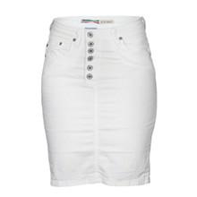 Please nederdel bianco ottico i hvid