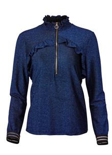 Rue de Femme Jigga bluse i blå