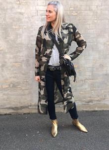Rue de Femme Linea Long skjorte i army