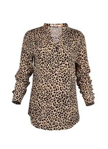 Rue de Femme New Doodle bluse i leopard
