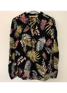 Rue de Femme New Doodle skjorte i sort m. mønster