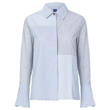 Résumé Fran skjorte i blå
