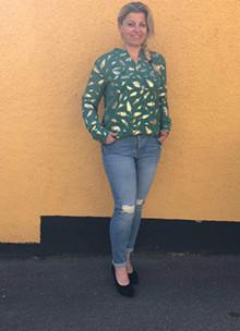 Rue De Femme Doodle skjorte i grøn