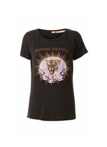 Rue De Femme Tiger t-shirt i sort