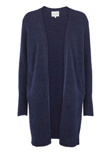 Second Female Brook strik Cardigan i navy