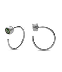 Maanesten Mesa Green ørering i sølv