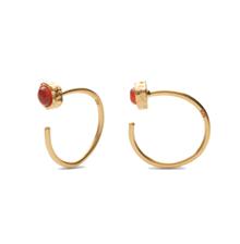 Maanesten Mesa orange ørering i guld