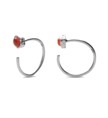 Maanesten Mesa orange ørering i sølv