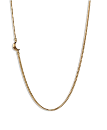 Jane Kønig Half Moon halskæde i guld