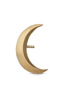 Jane Kønig stor Half Moon Stud i guld