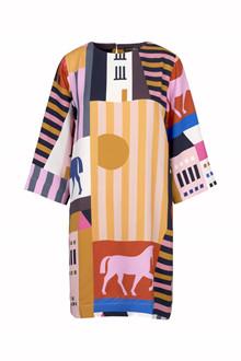 Stine Goya Beatrix kjole i multi farvet