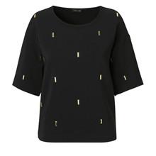 Stine Goya Rhonda bluse i sort