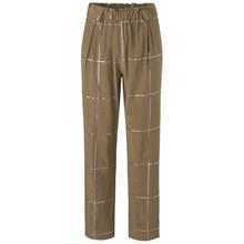 Stine Goya Vinnie Tartan Silk bukser i brun