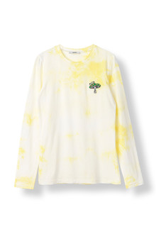 Ganni Verbena Acid langærmet T-shirt i gul