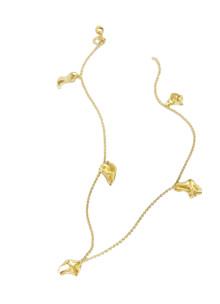 Trine Tuxen Scarlett halskæde i guldbelagt sølv