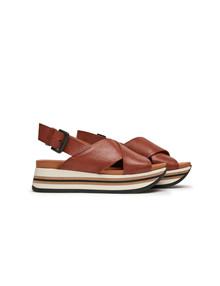 Via Vai Mirte Havannah Rhum sandal i Cognac