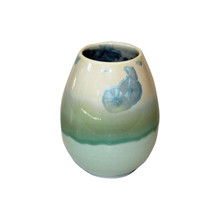 WAUW Design Small Crystal vase i grøn, turkis og blå