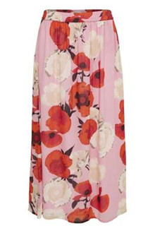 Gestuz Violetta Long nederdel i lyserød
