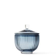Lyngby Bonbonniere 10 cm i blå glas