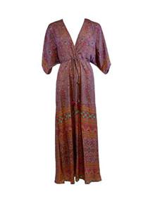 Black Colour Luna Long kjole i lilla