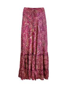 Black Color Luna Maxiskirt nederdel i pink