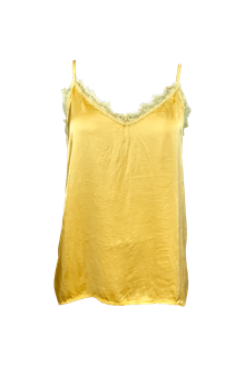 Black Color Minna Lace top i gul