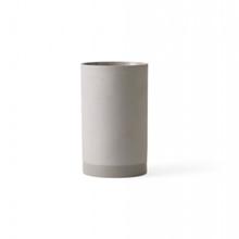 Menu vase cylinder lyse grå