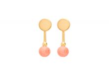 Louise Kragh Colour guld øreringe med ferskenfarvet perle
