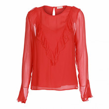 Custommade Giselle bluse i rød