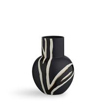Kähler Fiora vase midnats blå med guld detaljer