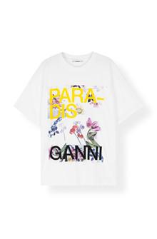 Ganni T2355 T-Shirt i hvid XS - S