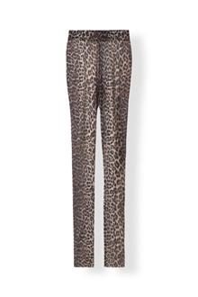 Ganni Tilden Mesh leggins i leopard