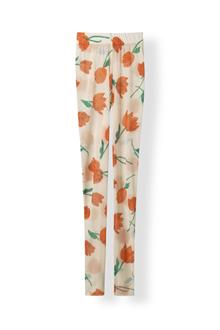 Ganni Tilden Mesh leggins i off white m. blomster