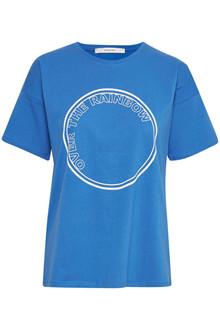 Gestuz Rainbow T-shirt i blå