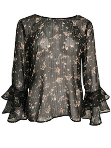 Neo Noir Gia bluse i mønstret