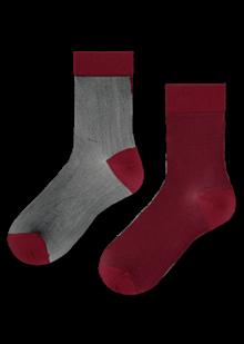 Hysteria Filippa Nylon Ankle strømper i rød