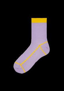 Hysteria Lily Ankle strømper (str. 39-41) i lilla/gul