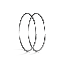 Jane Kønig Big Hoop øreringe i sølv