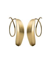 Jane Kønig Bladspiral øreringe i forgyldt sterling sølv