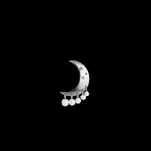 Jane Kønig Pearl Moon ørering i sølv