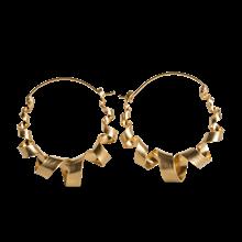 Jane Kønig Curly Hoop øreringe i forgyldt sølv