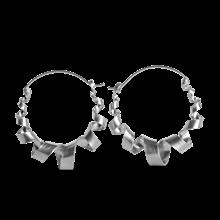 Jane Kønig Curly Hoop øreringe i sølv