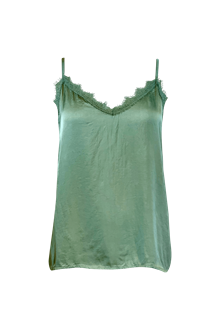 Black Color Minna Lace top i grøn