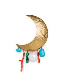 Jane Kønig Big Moon ørering i forgyldt