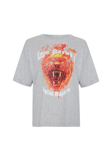 Lala Berlin Rafi Fire Lion T-shirt i grå