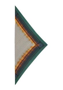 Lala Berlin Triangle Trinity Dipdye tørklæde i grøn, blå og orange