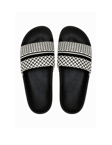 Lala Berlin Ariella slippers i sort/hvid