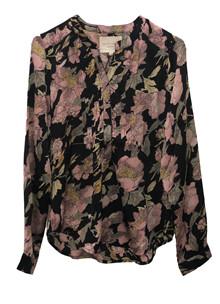 Lollys Laundry Helena Flower skjorte i sort