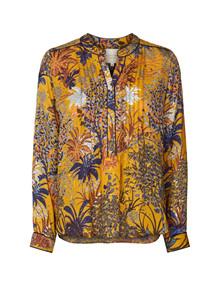 Lollys Laundry Helena skjorte i gul m. mønster